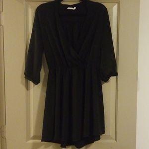 Open v neck blouse dress
